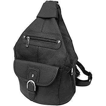 Amazon.com: Silver Fever Genuine Leather Backpack Purse