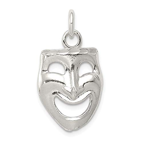 925 Sterling Silver Comedy Mask Pendant Charm Necklace Art Theater Dance Fine Jewelry Gifts For Women For Her
