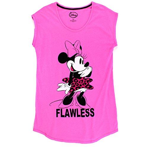 Briefly Stated Minnie Mouse Womens Plus Nightshirt Pajamas (1X, Minnie Pink) -