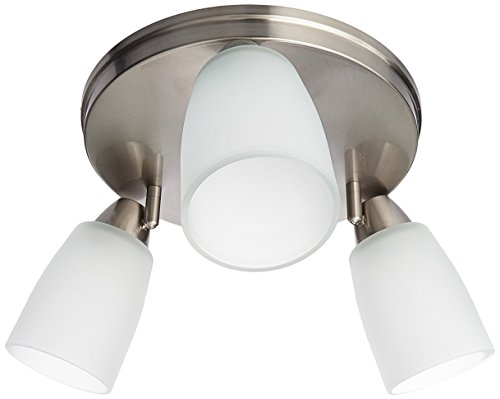 Progress Lighting P3361-09 GU24 Directional Close to Ceiling, 3-18-watt (09 Brushed Nickel Track Lighting)