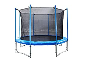 FA Sports Gartentrampolin mit Sicherheitsnetz Flyjump Monster, blau, 305 cm,...