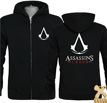 Assassins Creed 4 Black Flag Edward Kenway Cosplay Black Hoodie