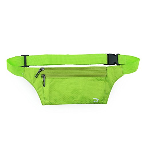 Ultrathin Casual Outdoor Sport Polyester Stealth Small Running Travel Waist Bag Fruit Green -
