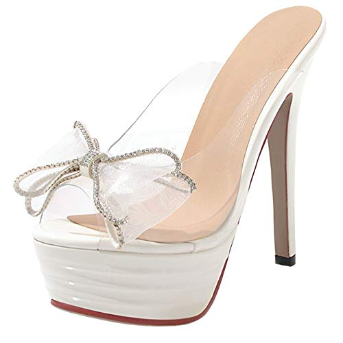 Piattaforma Moda Bianco Sandali Ciabatte Tacchi Aicciaizzi Altis Donna 05wqxAAFE