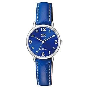 Q&Q Women's Blue Dial Leather Band Watch - QZ01J325Y