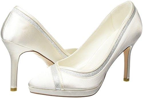 De Blanco Menbur Zapatos off 04 White Off Con Punta Felicidad Para Cerrada Mujer Tacón zzp6EH