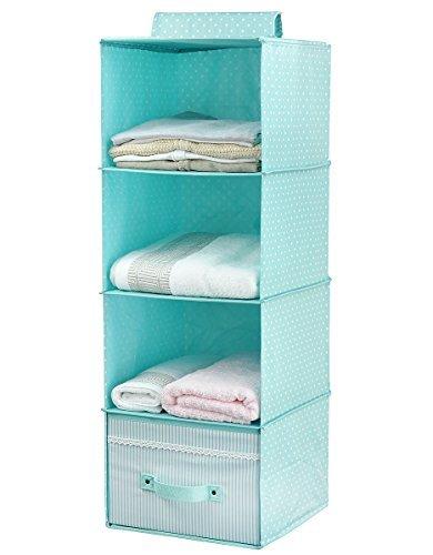 Colgando almacenaje de la ropa para Niños con cajón (4 unidades de la estantería)