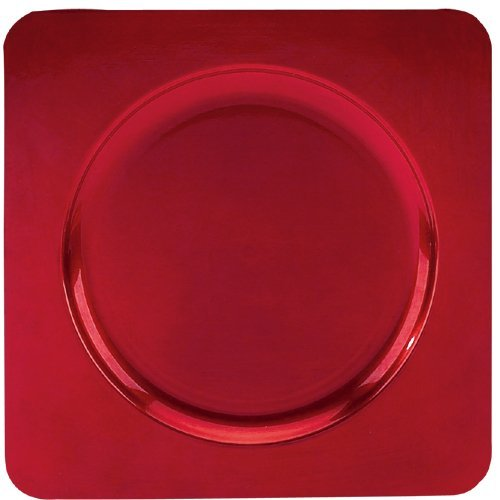 Tabletop Classics Square Red Charger Plates Pkg/12 TRR-6660