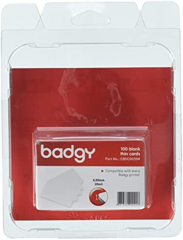 Badgy 948915 - PVC Karten für Badgy 100 Stück, Weiß