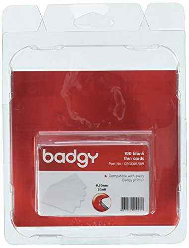Badgy Pvc Card (Badgy CBGC0020W 100 Pvc Cards Thin 20mil)