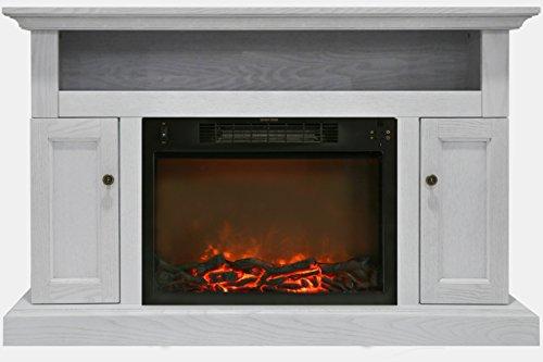 Cambridge CAM5021-2WHT Sorrento Mantel with Electronic Fireplace Insert, White