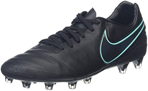 Nike Herren Tiempo Legacy II AG-Pro Fußballschuhe Schwarz (Black/Black/Hyper Turquoise)
