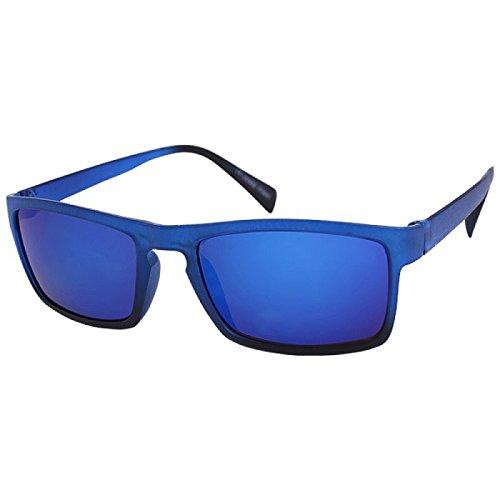 Miroir Marron Gris nbsp;bi Soleil 400 Bleu Rectangulaire color Uv Lunettes net Chic De Étroite Vert UYFPRx