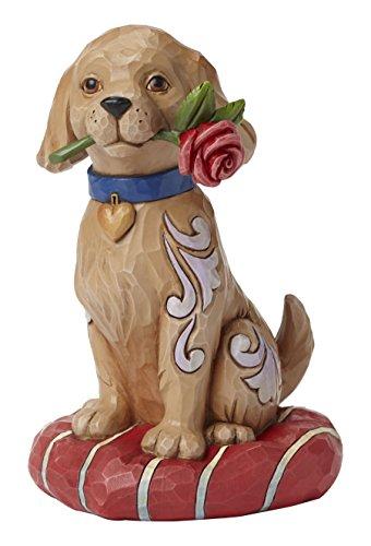 Enesco 4051396 Jim Shore Heartwood Creek Puppy with Rose (Enesco Rose)