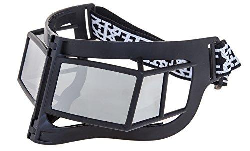 LINDA FARROW KTZ Fashion Geometric Mask White Ski Polarized KTZ9 Sunglasses (black, - Linda Farrow