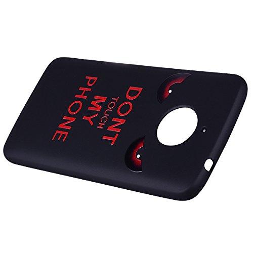 Estuche protector de TPU de color suave para Motorola Moto E4 Plus (Edición de Europa) ( Color : Unicorn ) Red eyes