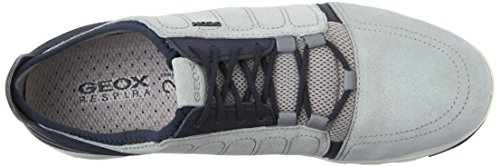 Geox U Xunday 2Fit A - Zapatillas para hombre Gris - Grey (Ice/Navy)