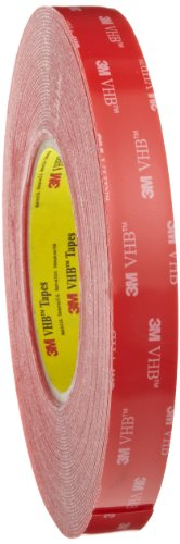 3M VHB Heavy Duty Mounting Tape 4910 Clear, 3/4 in x 15 yd 40.0 mil (Pack of 1)