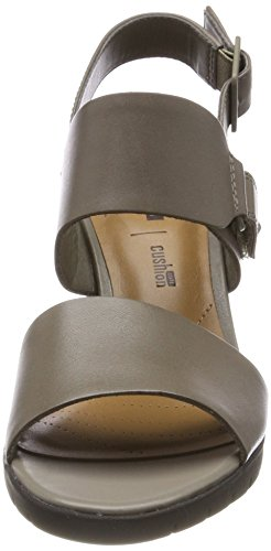 Sage Cinturino Kurtley Leather Sandali Donna Shine Verde alla Caviglia con Clarks CzqwIw
