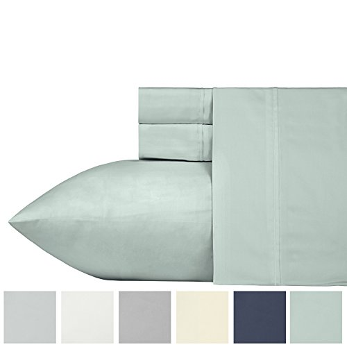 Count Natural (400 Thread Count 100% Cotton Sheet Set, Mod Spa Full Sheets 4 Piece Set, Long-staple Combed Pure Natural Cotton Bedsheets, Soft & Silky Sateen Weave by California Design Den)