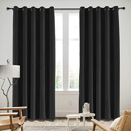 Panels Velvet Drapery Tan - cololeaf Grommet Velvet Curtain Panel Drapery Soft Smooth Handfeel Velvet Curtains for Bedroom Living Room in Warm Black 52