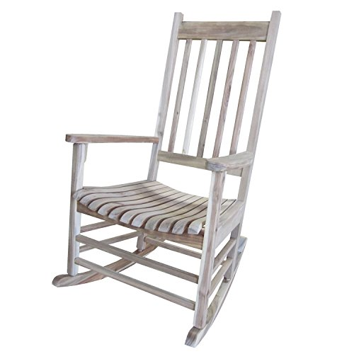 International Concepts Solid Wood Porch Rocker Chair, Unfinished by International Concepts