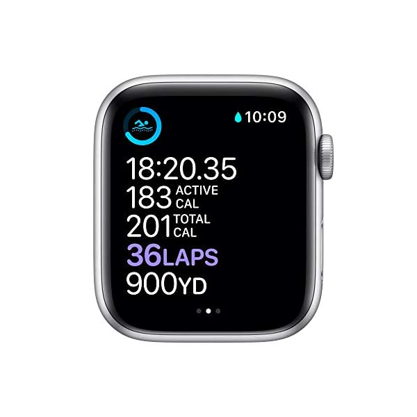 AppleWatch Series6 (GPS, 44 mm) Caja de Aluminio en Plata – Correa Deportiva Blanca