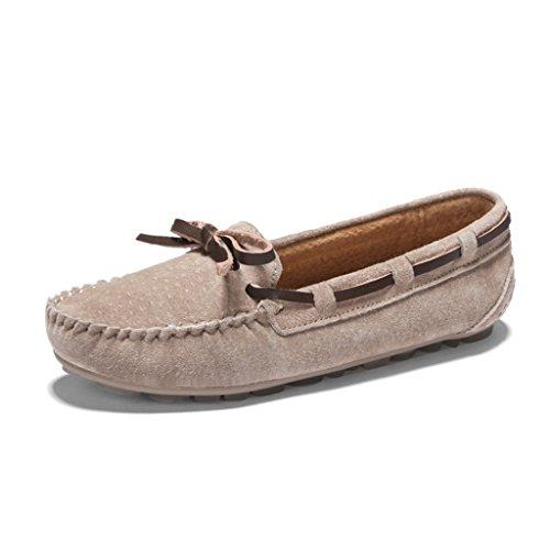 Zapatos mujer 35 para B Zapatos Profundas Sencillos Zapatos Un C HWF Mujer Primavera Guisantes Tamaño Color Casualesplanos Poco Mujer De Perezosos De Pedal xFfntw