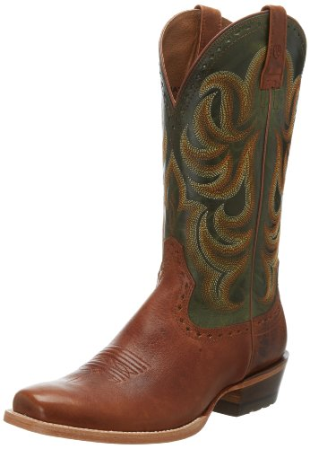 Ariat Mens Vändplats Western Cowboy Boot Caliche / Neon / Lime