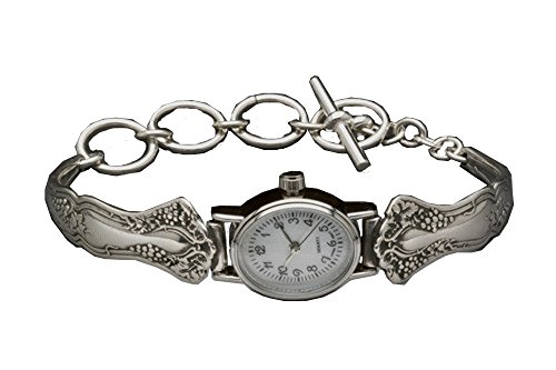 Silver Spoon Vintage Oval Ladies MOP Watch Unique Petite Merlot (Silver Spoon Watch compare prices)