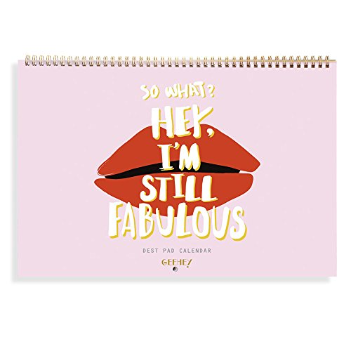 "Price comparison product image 'FABULOUS' Desk Pad Calendar,  Undated Planner,  Decorative Stickers Included,  Wire Bound Monthly Planner Desk Blotter Personal Organizer Scheduler Agenda,  12 Months,  15"" X 10.2"" (Pink)"