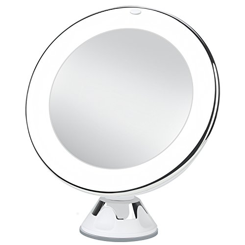 Charmax Magnifying Lighted Makeup Mirror Chrome 7x