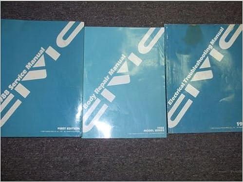 1988 HONDA CIVIC Service Shop Repair Manual Set OEM W WIRING ... on