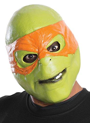 Rubie's Men's Teenage Mutant Ninja Turtles Michelangelo Adult 3/4 Mask, Multi, One (Tmnt Michelangelo Mask)