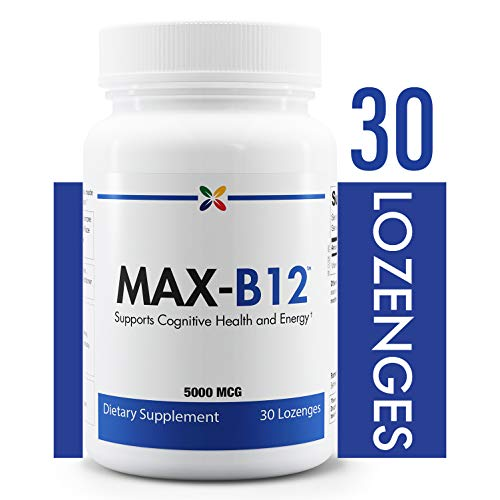 Stop Aging Now - MAX-B12 Vitamin B12 Lozenges 5000 mcg - Supports Cognitive Health and Energy - 30 Lozenges       ()