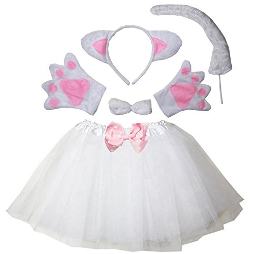 Kirei Sui Kids Costume Tutu Set White Cat -