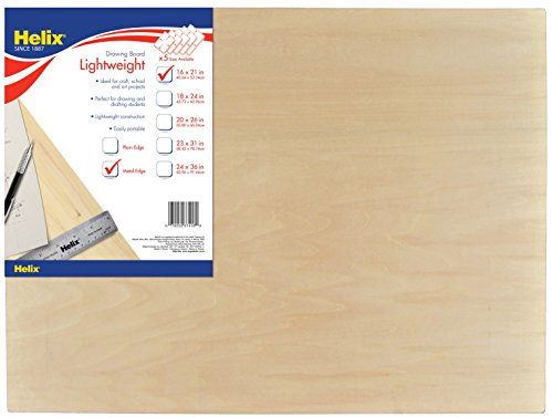 Helix Wooden Lightweight Drawing Board, 16 x 21 Inch, Metal Edge (37416)