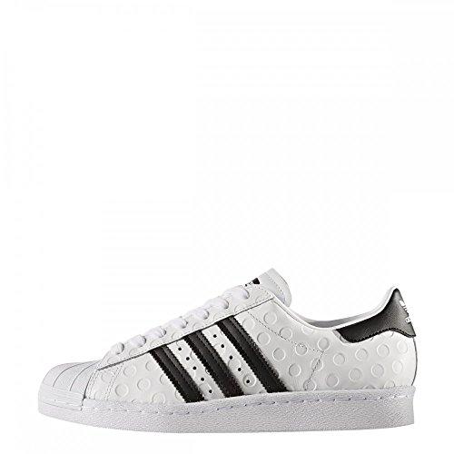 adidas Superstar 80s W, Zapatillas de Deporte para Mujer Blanco (Ftwbla / Negbas / Ftwbla)