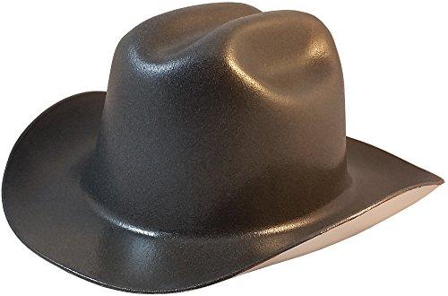 Western Cowboy Hard Hat with Ratchet Suspension - Textured Gunmetal