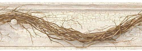 York Wallcoverings ac4348bd国Keepsakes Grapevine Twig Border壁紙、クリーム、ブラウン、グレー