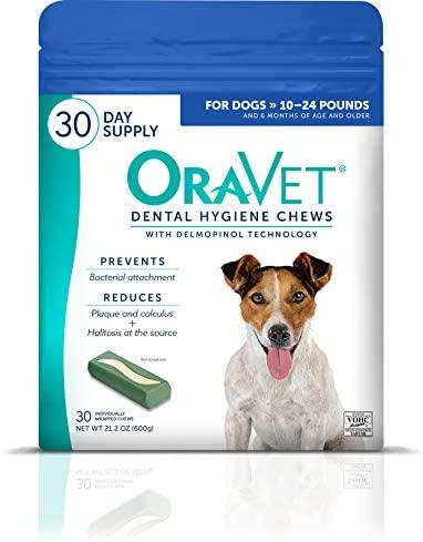 OraVet Dental Hygiene Chews for Small Dogs 10-24 Lbs