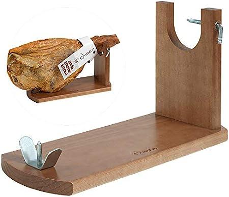 Tipo de accesorio: Soportes jamoneros,El jamonero Banqueta de Jamonprive está fabricado en madera de