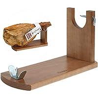 Soporte Jamonero Banqueta - Jamonera Jamonprive ideal para el Jamón Serrano e Ibérico y el Prosciutto Italiano (no incluye cuchillo)
