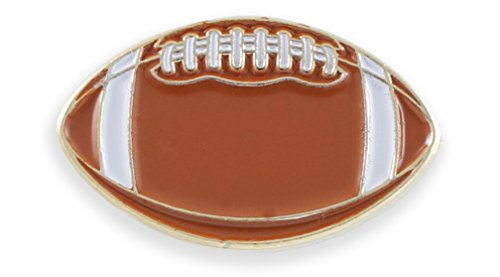 Football Enamel Cufflink + Lapel Pin + Tie Bar (Gold Lapel (Football Lapel Pin)