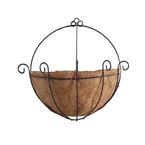 Baoblaze Metal Hanging Planter Basket With Coco Coir
