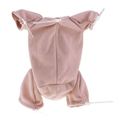 Fenteer 20inch Doll Reborn Cloth Body Suede Fabric Baby Doll Supplies for 3/4 Arm Full Leg Mold DIY -
