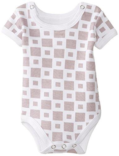 L'ovedbaby Unisex-Baby Short Sleeve Bodysuit, Miles-Of-Tiles Lavender,  9/12 ()