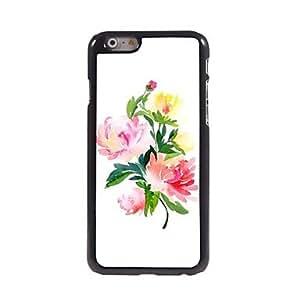 TOPMM Elegant Flower Pattern Aluminum Hard Case for iPhone 6 Plus