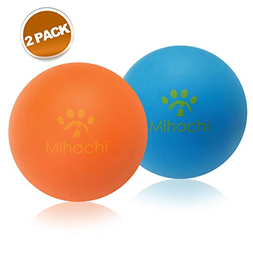 Mihachi 2 Pack Dog Balls Indestructible - 100% Natural Rubber Bouncy Dog Ball Non-Toxic Chew Toy for Small to Medium Dog Training & Playing