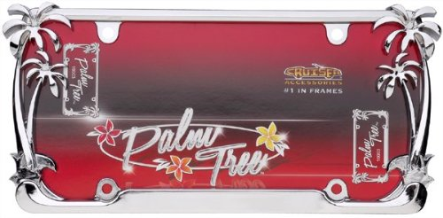 amazoncom cruiser accessories 19003 chrome palm tree frame automotive